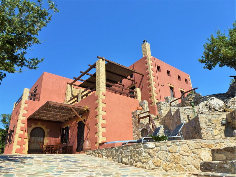 ArchonVilla - Lower Level - Main Entrance - ArchonVilla an Affordable Luxury Stay - Paleochora - rentals