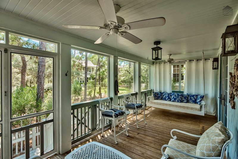 Stunning 3BR house in WaterSound, screened porch  - Captain's Cottage - Image 1 - Santa Rosa Beach - rentals