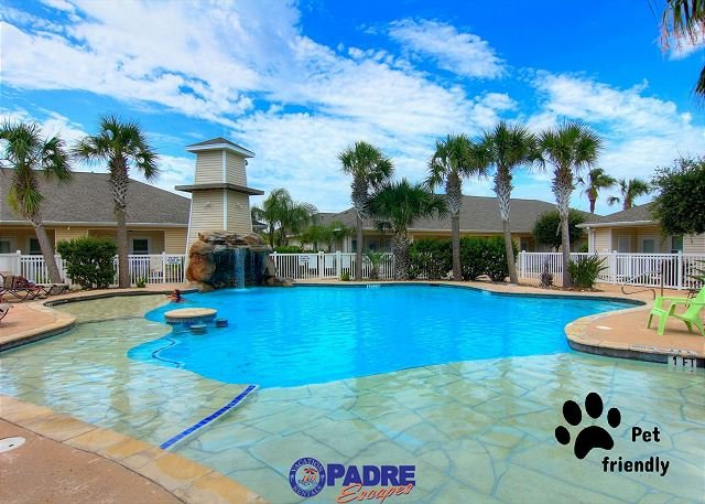 Heated pool for year-round enjoyment - Comfy one bedroom condo with a Great Lagoon-style Pool! - Corpus Christi - rentals