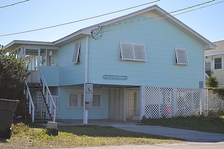 Exterior Front - BeachComber - Stellar Oceanfront View, Fantastic Location, Charming Character - Topsail Beach - rentals