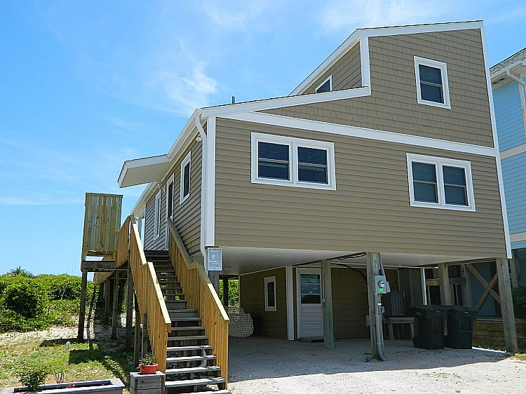 Street Side of House - Schoonderwoerd - Captivating Oceanfront View, Conventional Interior, Tranquil - Topsail Beach - rentals