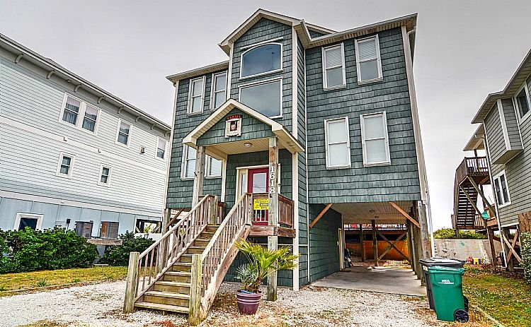 Street Side Exterior - Narnia - Astonishing Oceanfront View, Numerous Decks, Pet Friendly, Elevator - Surf City - rentals