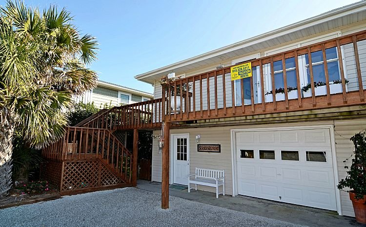 House Front - Seaside Retreat - Spectacular Oceanfront View, Superb Coastal Decor, Charming - Topsail Beach - rentals