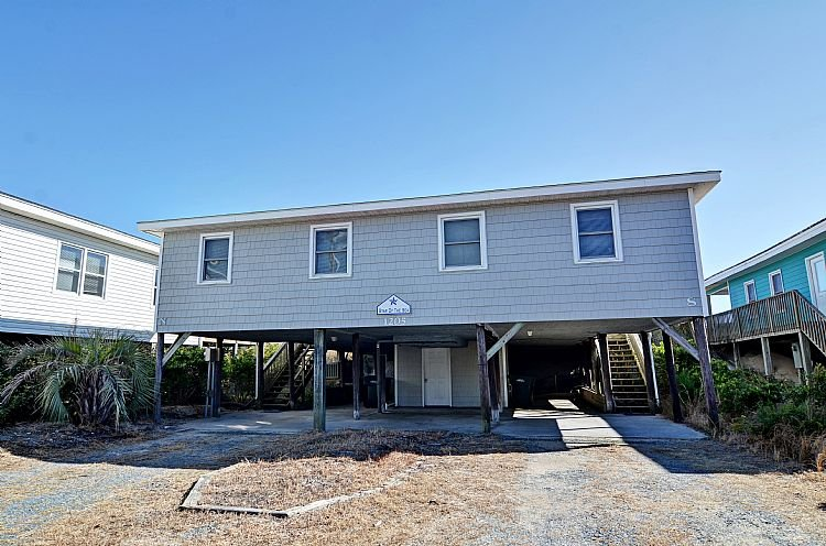 Street Side Exterior - Star of the Sea - Sensational Oceanfront Views, Perfect Location, Affordable - Topsail Beach - rentals