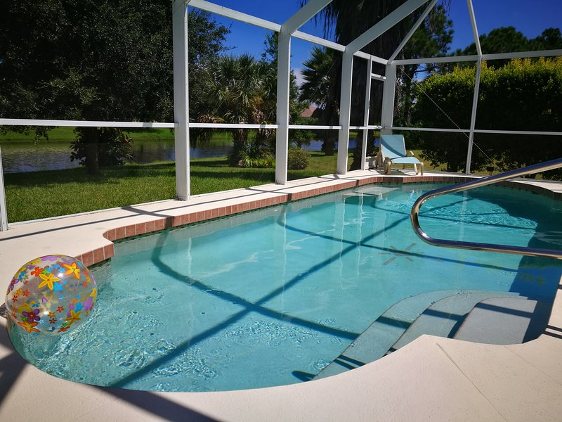 Take a refreshing dip in our private pool - Waterfront Gulf Coast Villa - Pure Luxury! Exclusive area in Rotonda West - Rotonda West - rentals