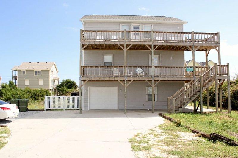 Front Exterior | Street side - Ocean Bliss- SAT 4BR - Emerald Isle - rentals