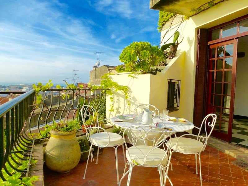 sunny terrace - Quirky Provence Village House with Sea View Terrac - Cagnes-sur-Mer - rentals