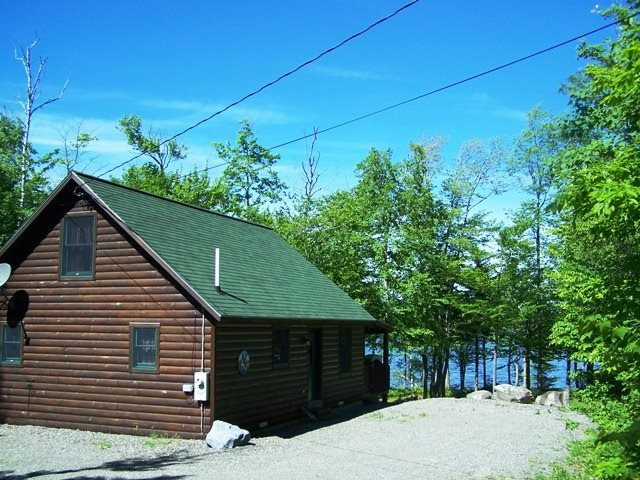 #144 Four-Season log cabin on First Roach Pond - Image 1 - Kokadjo - rentals