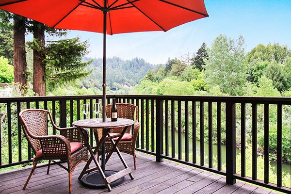 Dock Calm, Deck With River Views - Dock Calm - Guerneville - rentals