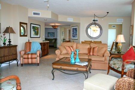 Living Room w/ Incredible Ocean View - MIR402 - Marco Island - rentals