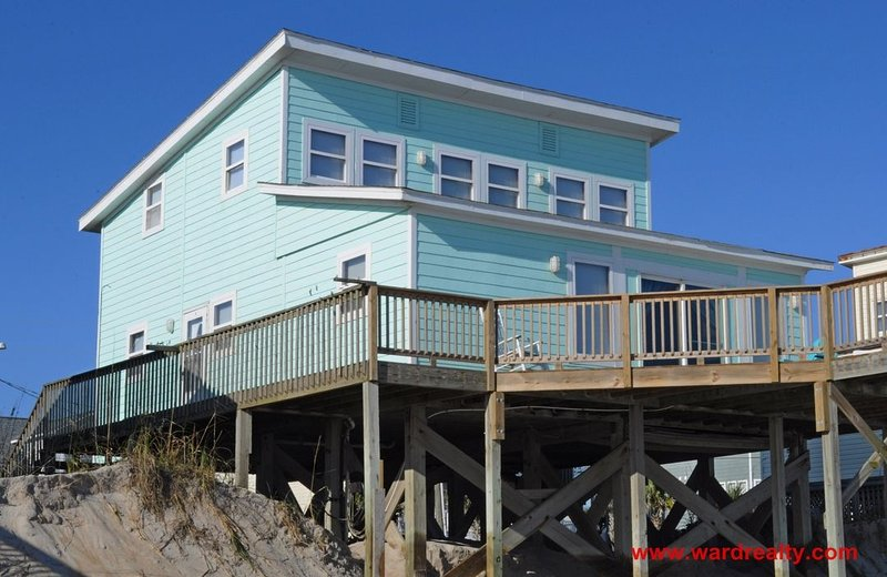 Oceanfront Exterior - The Other Place - Surf City - rentals