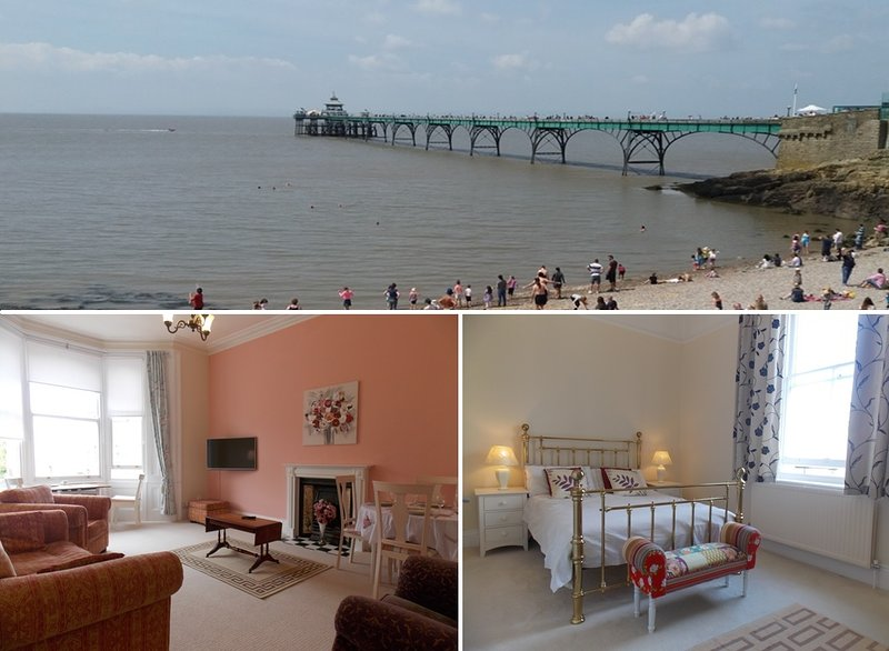 Enjoy Clevedon's beautiful seaside and Victorian Pier from a lovely Victorian apartment! - Pier View - Clevedon - rentals