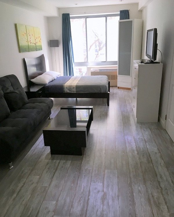 Well Lighed and Balance in Texture in NY Studio Apartment - Image 1 - Weehawken - rentals