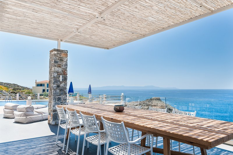 Sea front villa Penelope in Stavros  - Villa Penelope with stunning views to the sea - Akrotiri - rentals