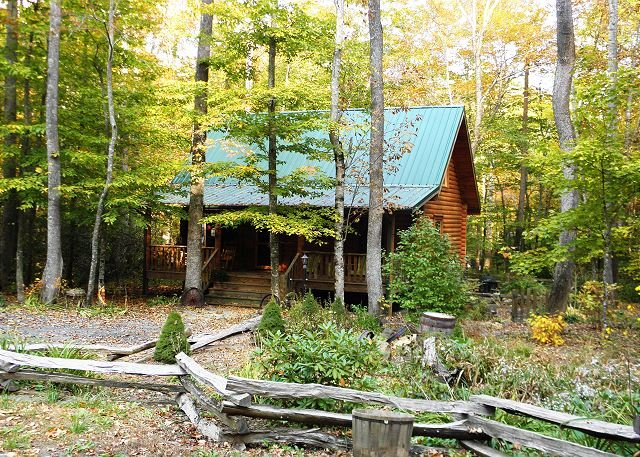 Enjoy Autumn Here! Creekside Cabin w/Hot Tub, WiFi, Fire Pit & Pets Allowed! - Image 1 - Todd - rentals