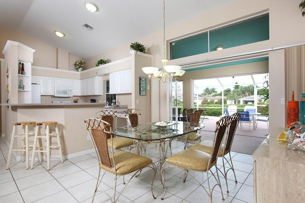 Dining Area - Amber Dr - AMB812 - Delightful Home, 1/2 Mile to Beach! - Marco Island - rentals