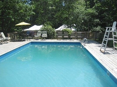 Heated Swimming Pool - Hot Tub - Weddings and Family Reunions  at Pine Lodge - Northport - rentals