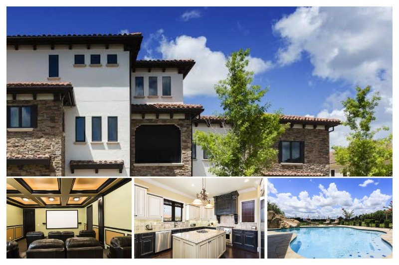 12 bed home with Indoor and outdoor pools, 2 movie rooms, private gym, spacious lanai and BBQ - Image 1 - Reunion - rentals