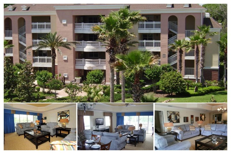 Beautiful 3 bed 3rd floor contemporary condo,  private balcony at Villas South Reunion Resort - Image 1 - Four Corners - rentals