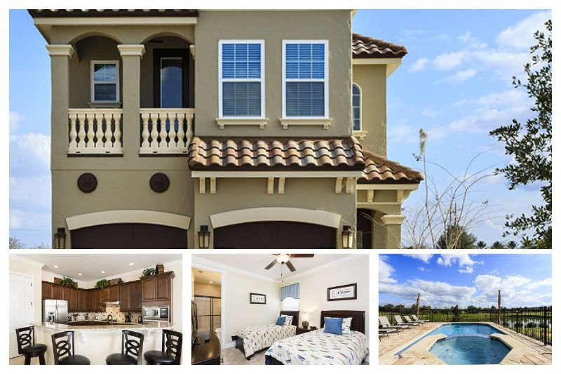 5 bed 4 bath home with private pool and spa, Golfand lake views, games room - Image 1 - Reunion - rentals