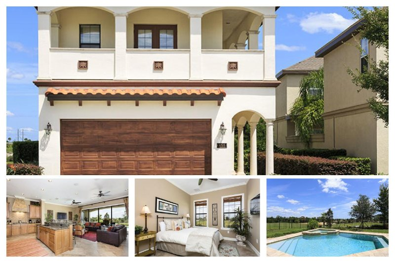 Amazing 5 bedroom Reunion Vacation Home with private pool, spa and golf views - Image 1 - Reunion - rentals