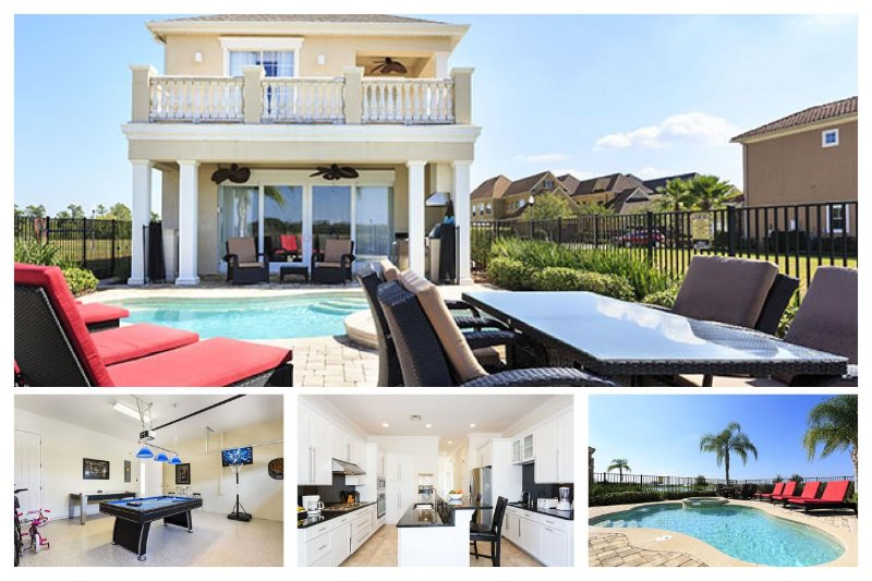 5 Bedroom 4.5 bath with water views, private pool and games room - Image 1 - Reunion - rentals