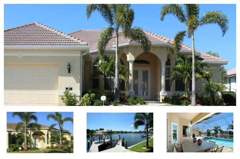 Amazing Cape Coral Vacation Rental with boat dock, located on a wide canal in the southwest of Cape Coral. - Image 1 - Saint James City - rentals
