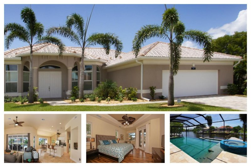 Luxury Cape Coral Vacation Home with South Facing Pool and Hot Tub, plus a boat dock on the canal. - Image 1 - Cape Coral - rentals