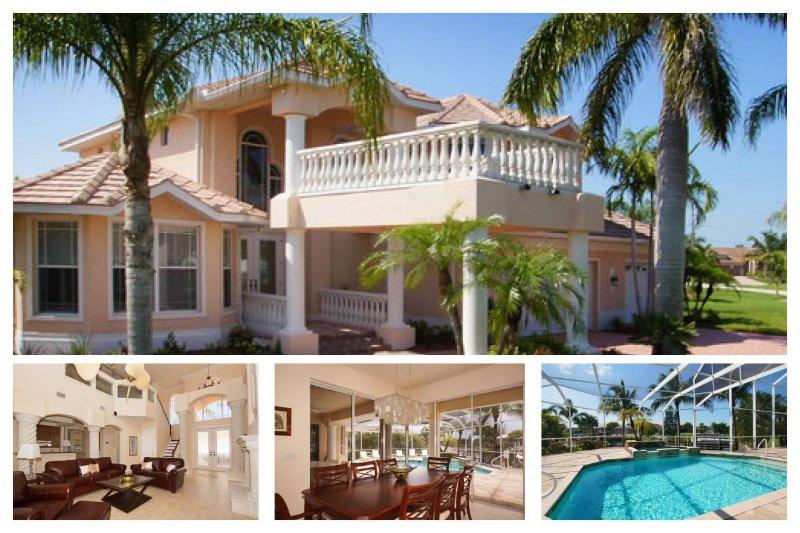 Amazing luxury villa-6 bedrooms-Pool-Circular driveway-Boat dock-Spectacular views-Pet friendly - Image 1 - Cape Coral - rentals