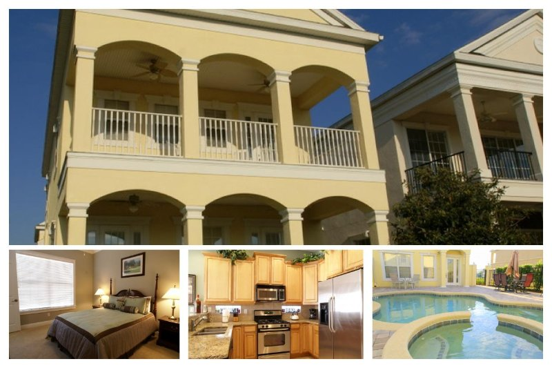 Beautifully styled 4 bedroom Reunion Resort home with private pool and spa golf course views - Image 1 - Loughman - rentals