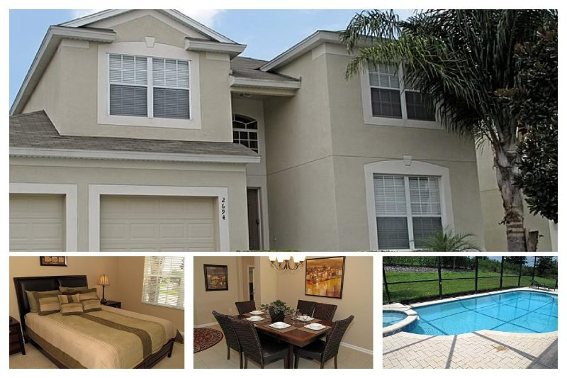 Elegant, modern 5 bedroom home with games room, private pool and spa, 1.5 miles to Disney - Image 1 - Four Corners - rentals