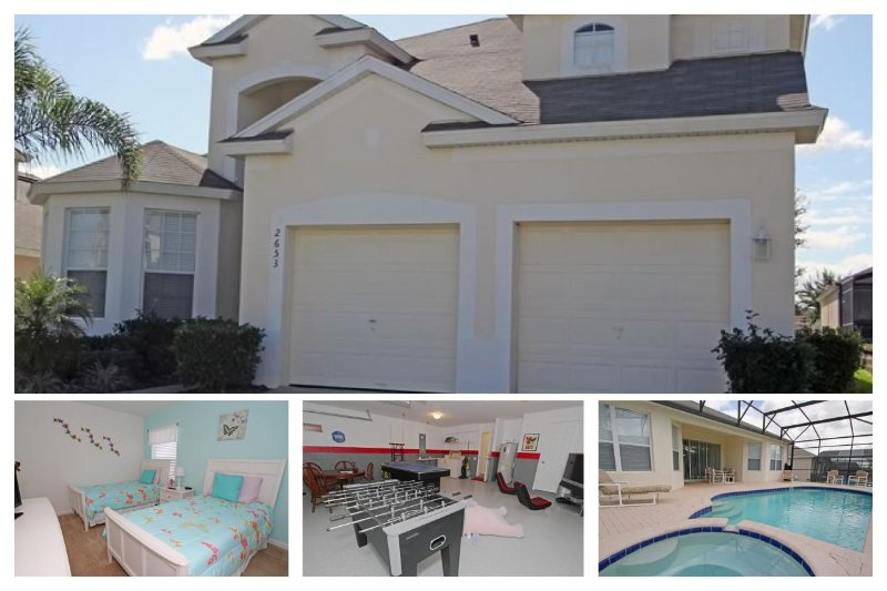 With games room and stunning pool area, this 2 storey 5 bedroom home has fabulous interior - Image 1 - Reunion - rentals