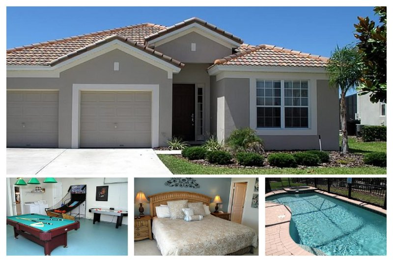 Featuring gorgeous pool area, luxurious 4 bedroom Windsor Hills vacation rental with games room - Image 1 - Four Corners - rentals