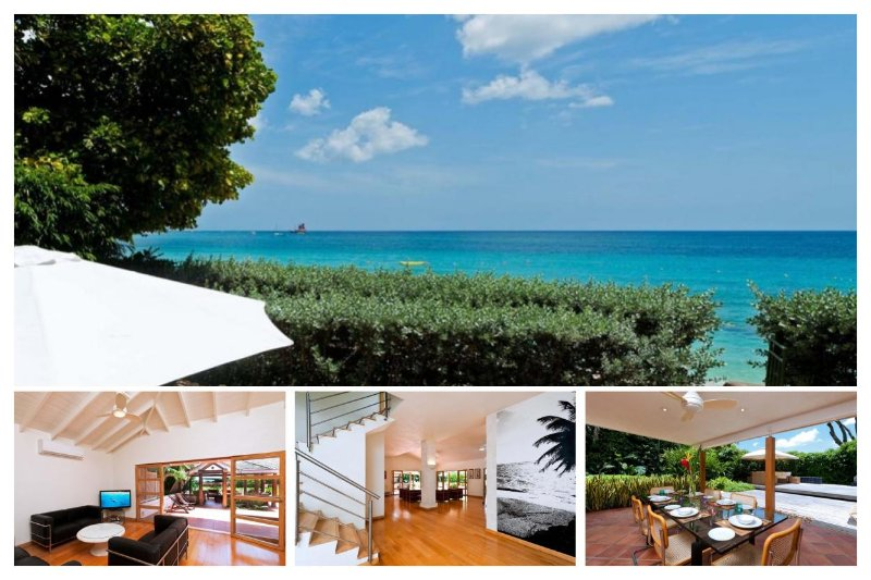Stunning 4 Bed Beachfront Villa - Tropical Gardens - Image 1 - Trents - rentals