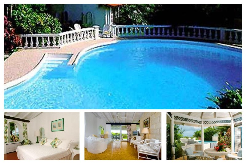 Delightful 2 bed cottage -  private pool, located on a ridge overlooking the ocean - Image 1 - Gibbs Bay - rentals