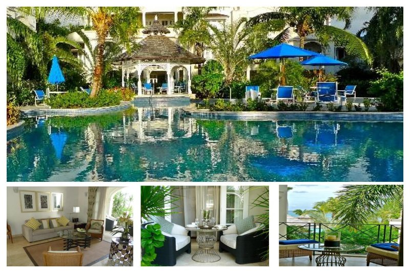 Beachfront condo with a communal freeform swimming pool as the focal point - Image 1 - Lascelles Hill - rentals