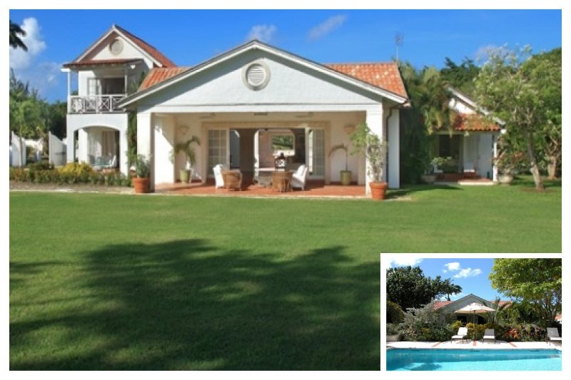 Grand 4 bedroom home with a lovely pool, overlooking a polo field - for great views of the game! - Image 1 - Gibbs Bay - rentals