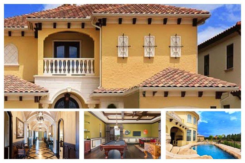8 en-suite bedrooms, games room, gym, cinema room, private pool, spa, pool water slide - Image 1 - Reunion - rentals