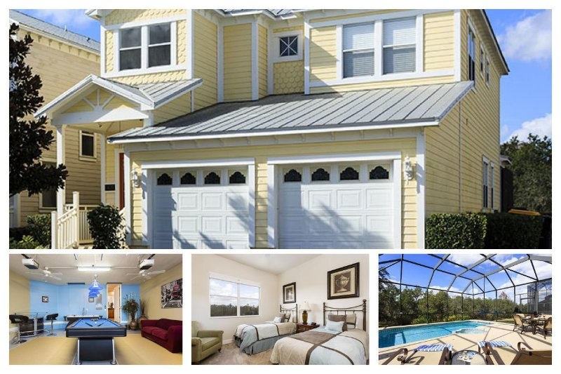 Fabulous 4 bedroom Reunion vacation home featuring gorgeous conservation views and pool area - Image 1 - Loughman - rentals