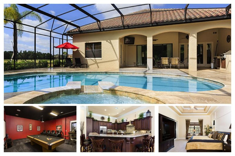 Amazing custom 6 bed, with large screened pool and spa, games room/cinema, WiFi - Image 1 - Reunion - rentals