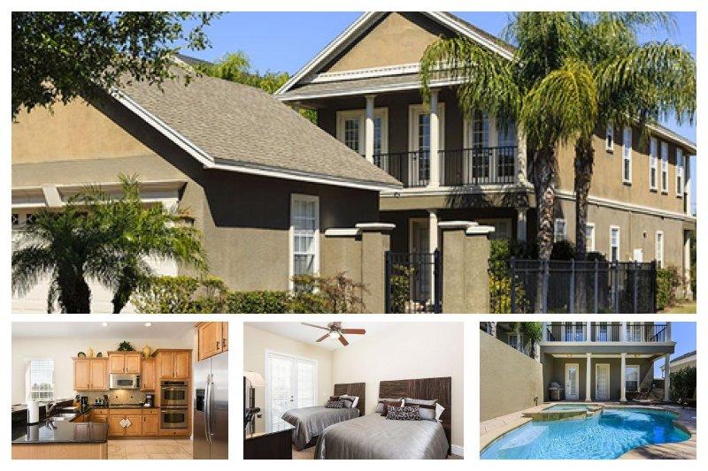 4 Spacious bedrooms, games room, private pool, hot tub, panoramic golf views - Image 1 - Reunion - rentals