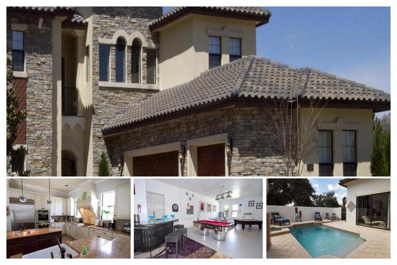 luxury Reunion Resort villa with 5 bedrooms, 4.5 bathrooms, games room, pool - Image 1 - Reunion - rentals