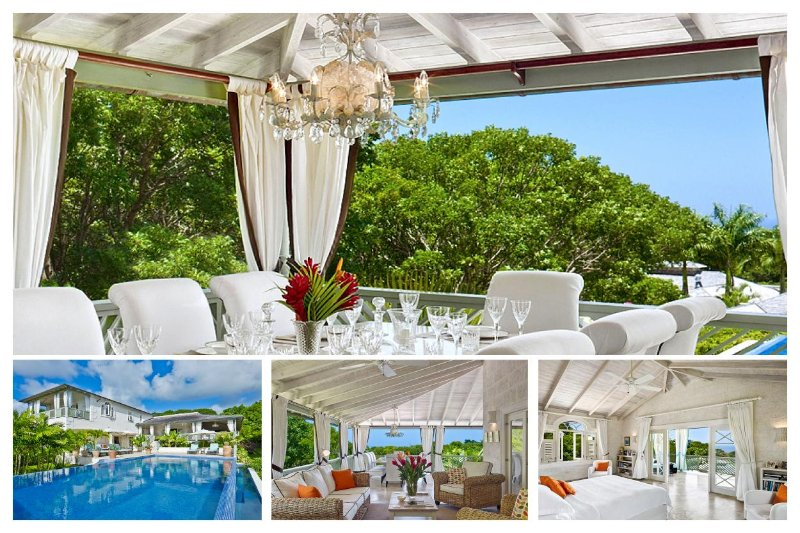 Attractive 4 bedroom villa, with an enticing infinity pool, swaying trees and Caribbean Sea beyond - Image 1 - Saint James - rentals