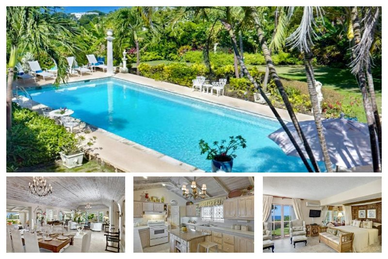 Essential 4 bedroom 1 storey villa, set amongst tropical plants and boasts a large swimming pool with a sun bathing patio - Image 1 - Holder's Hill - rentals