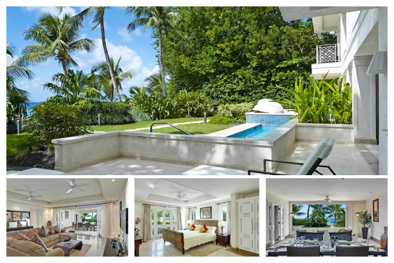 Beautiful 3 Bed Beachfront Apartment - Image 1 - Paynes Bay - rentals
