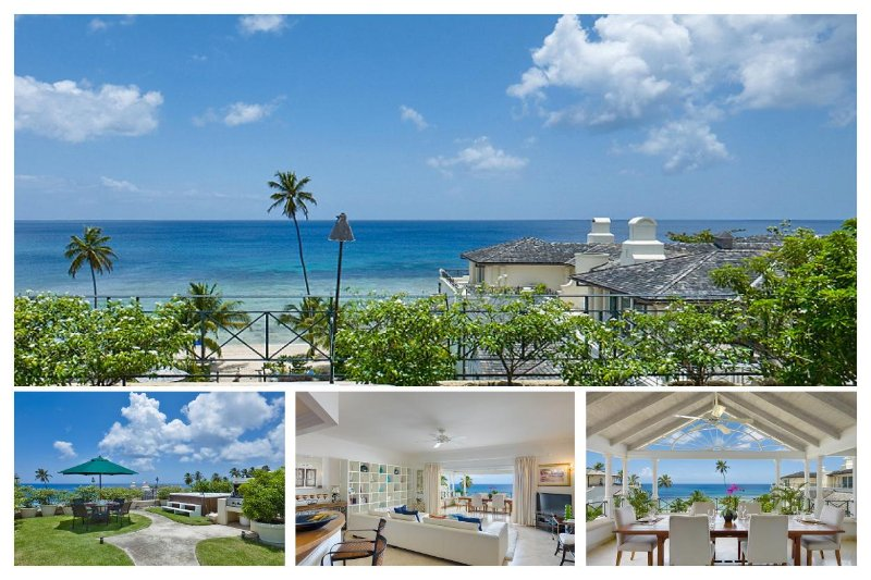 Stunning views of the free-form swimming pool, lush tropical gardens and Caribbean Sea beyond - Image 1 - Speightstown - rentals