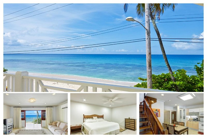 A wonderful opportunity to vacation in this beachfront duplex on the West Coast of the island with spacious living area and balc - Image 1 - Speightstown - rentals