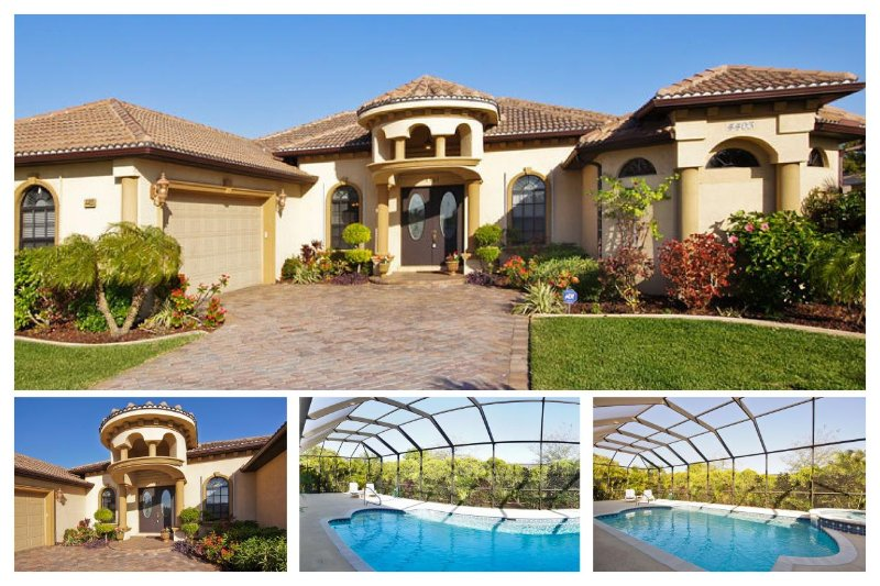 Beautiful flower garden-Spacious 3 bedroom luxury villa-Pool & Spa-Perfect privacy-Single family - Image 1 - Cape Coral - rentals