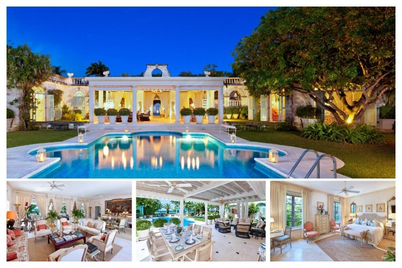 This opulent beachfront villa is set within two acres of lush, tropical gardens, provides a magical setting ideal for families - Image 1 - Mullins Beach - rentals