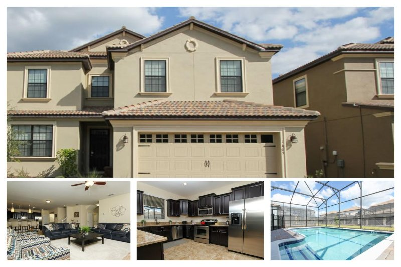 Perfect for multiple families- 6 bedroom- Located near Disney- Games Room- Covered Private Pool - Image 1 - Reunion - rentals